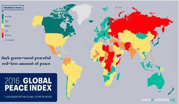 global peace map 2016